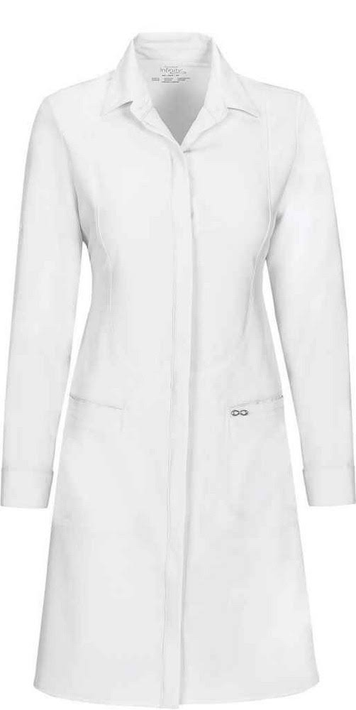 "Cherokee Infinity Lab Coat - with Antimicrobial Lab Coat, 40"", White"