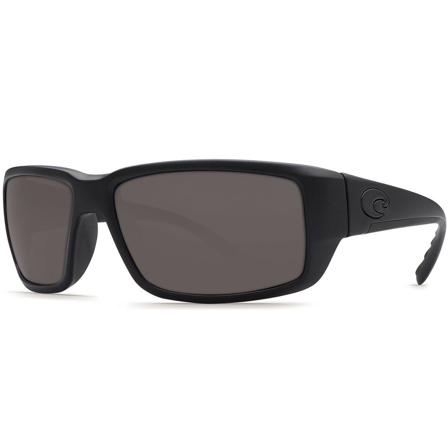Costa Del Mar Men's Fantail 580G Polarized Sunglasses - Black/Grey, 120mm