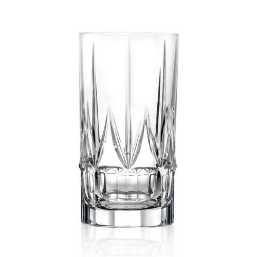 Lorren Home Trends Chic Set of 6 High Ball Tumblers by, Clear