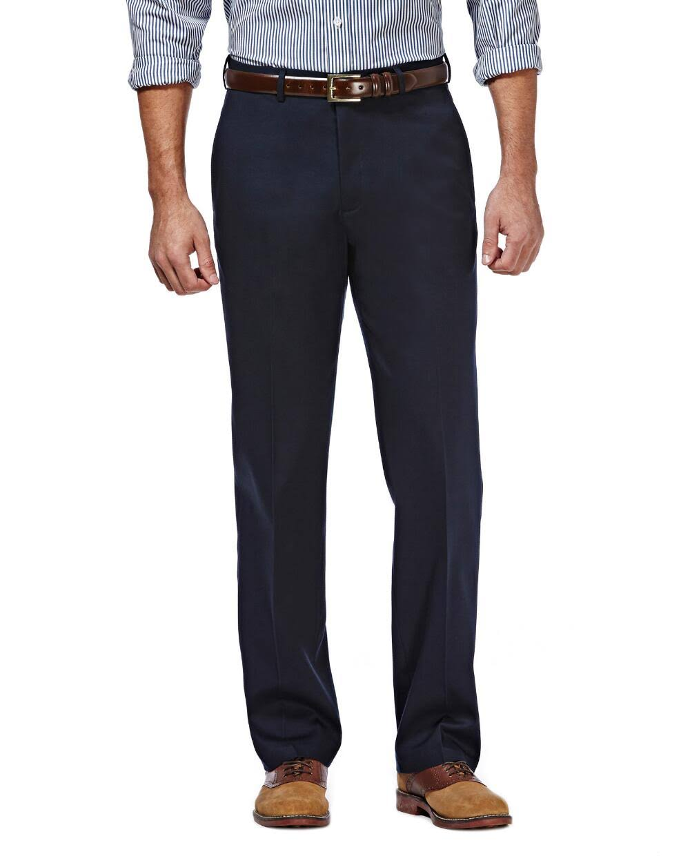 Haggar Men's Premium No Iron Classic Fit Pants
