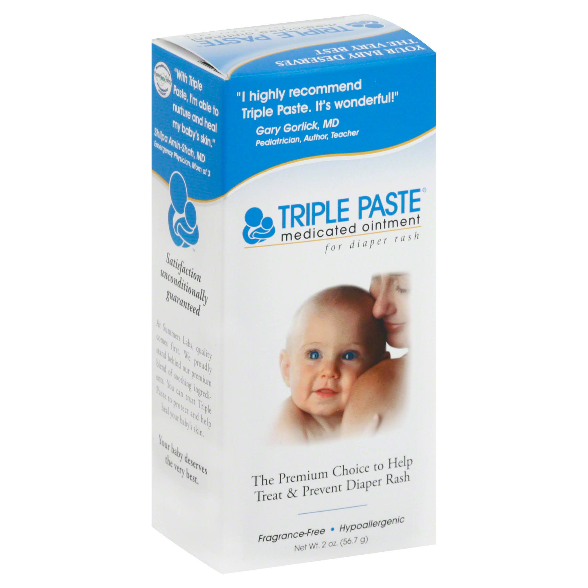 Triple Paste Medicated Ointment for Diaper Rash - 2oz