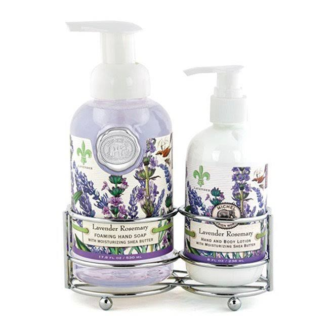 Michel Design Works Hand Care Soap & Lotion Caddy Set - Lavender
