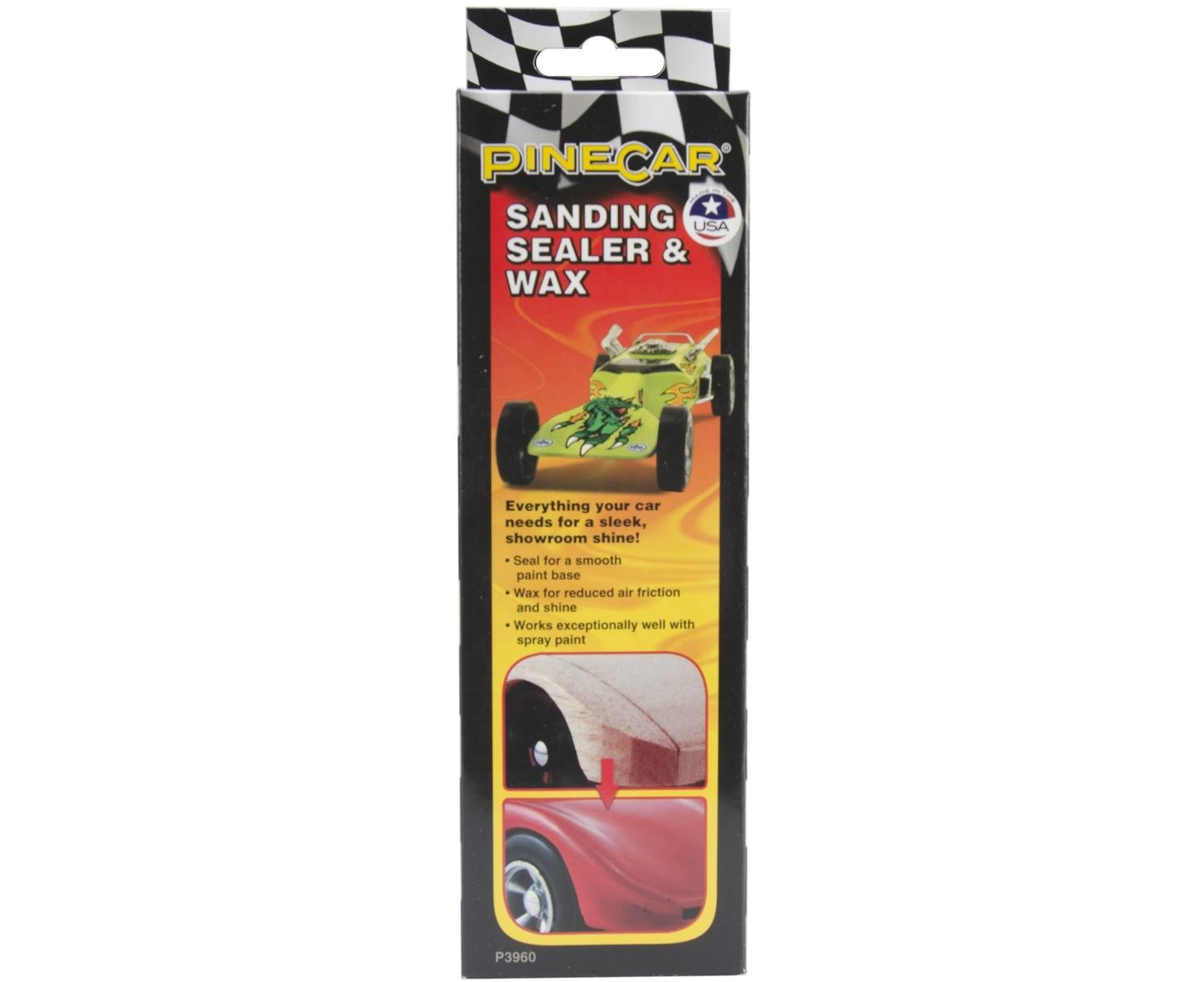 Pine Car Derby Sanding Sealer And Wax