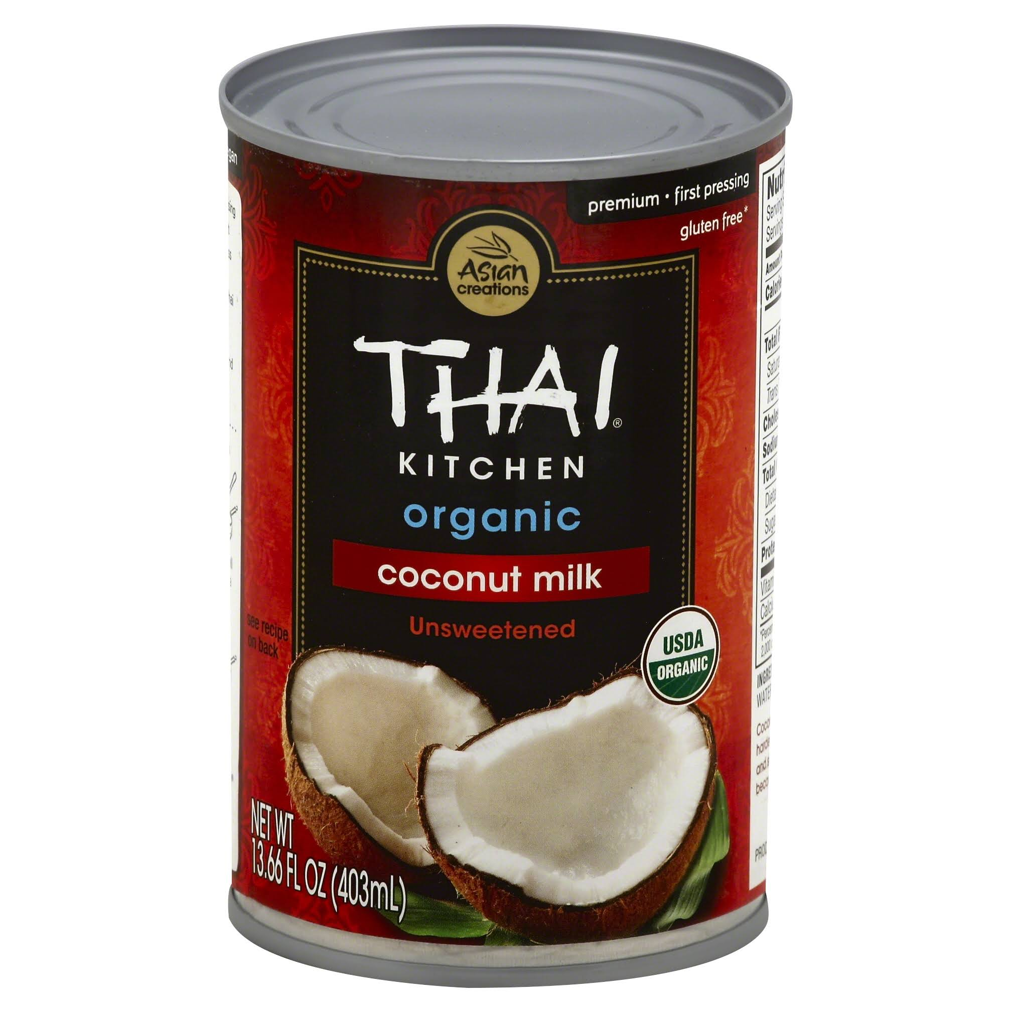 Thai Kitchen Coconut Milk - Unsweetened, 13.66oz