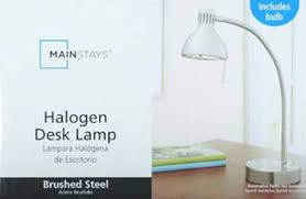 Mainstays Floor Lamp With Reading Light Assembly by Mainstays Halogen Desk Lamp Brushed Steel Walmart Com