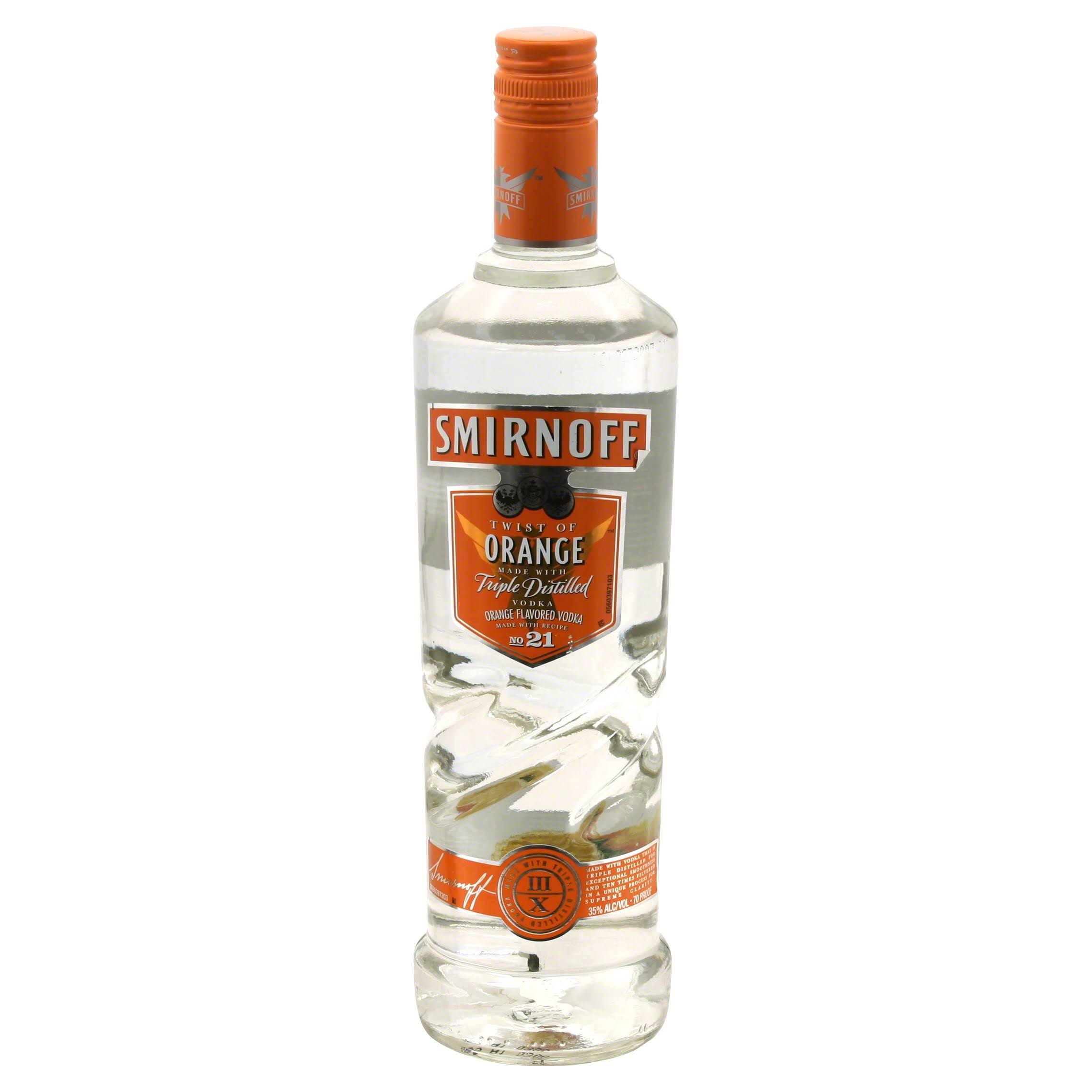 Smirnoff Flavored Vodka, Twist of Orange - 750 ml