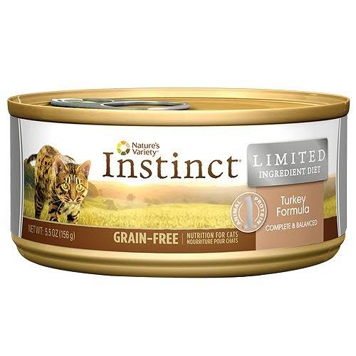 Nature's Variety Instinct Grain-Free Limited Ingredient Diet Canned Cat Food - Turkey, 5.5oz