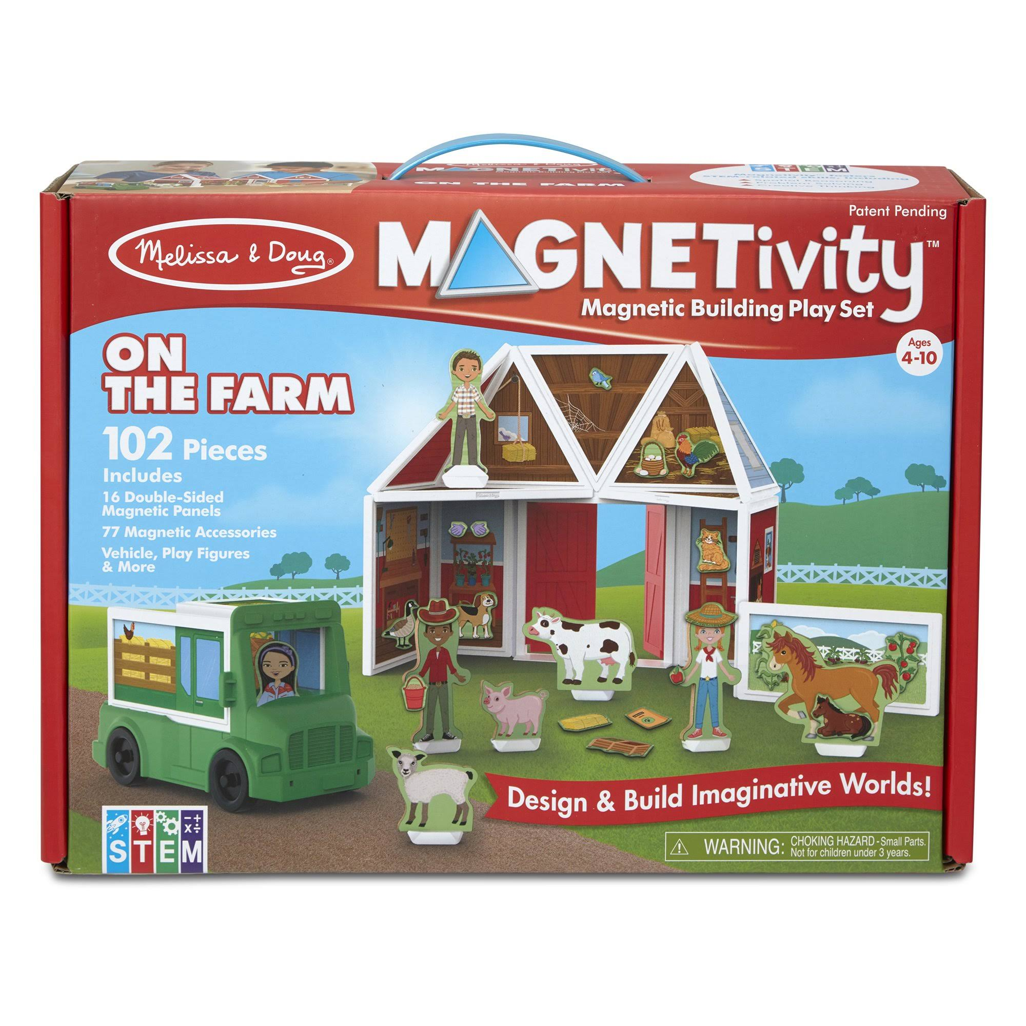 Melissa & Doug Building Play Set on The Farm Magnetivity Magnetic