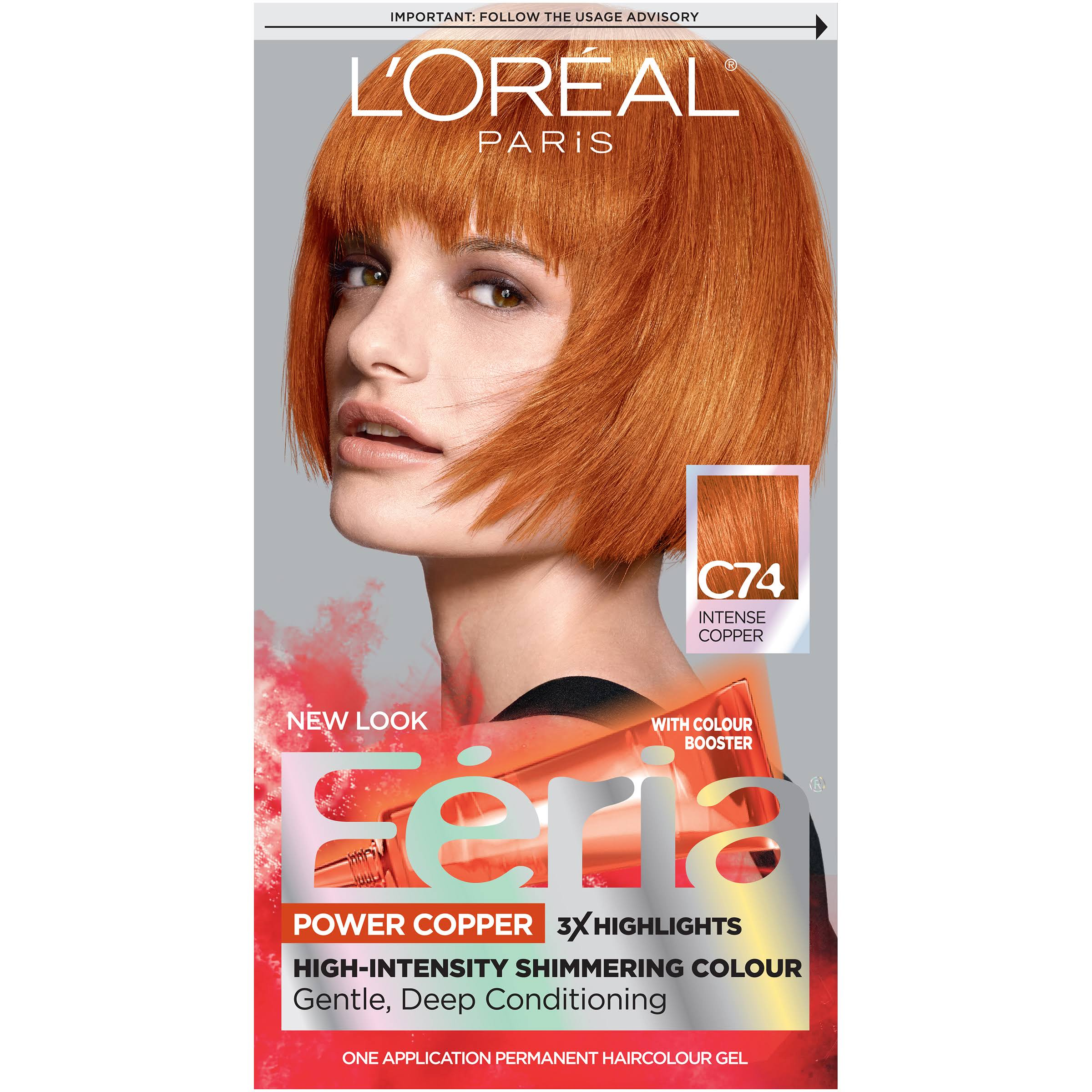 L'oreal Paris Feria Permanent Hair Color - C74 Copper Crave