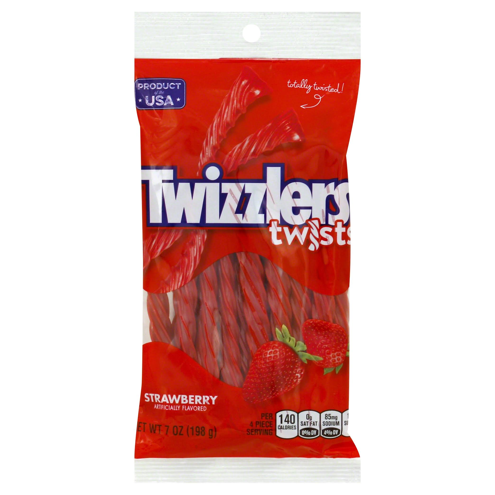 Twizzlers Twists - Strawberry, 198g