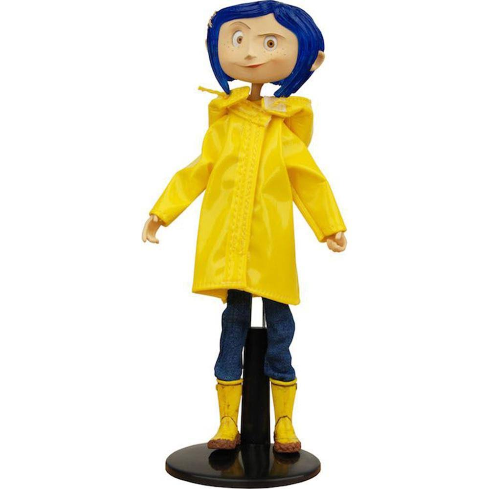 National Entertainment Collectibles Coraline Raincoat Bendy Doll