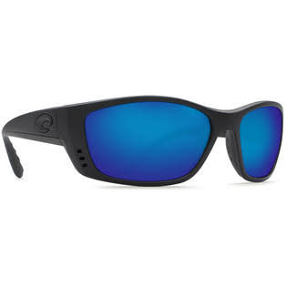 Costa Del Mar Fisch Black Sunglasses Blue Lens 580P
