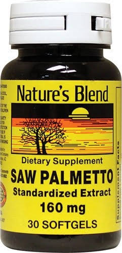 Nature's Blend Saw Palmetto Supplement - 160mg, 30 Count