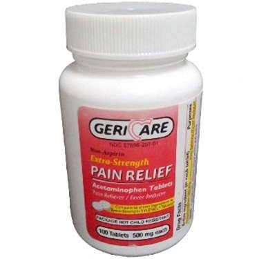 Acetaminophen Extra Strength Pain Relief Tablets - 100ct