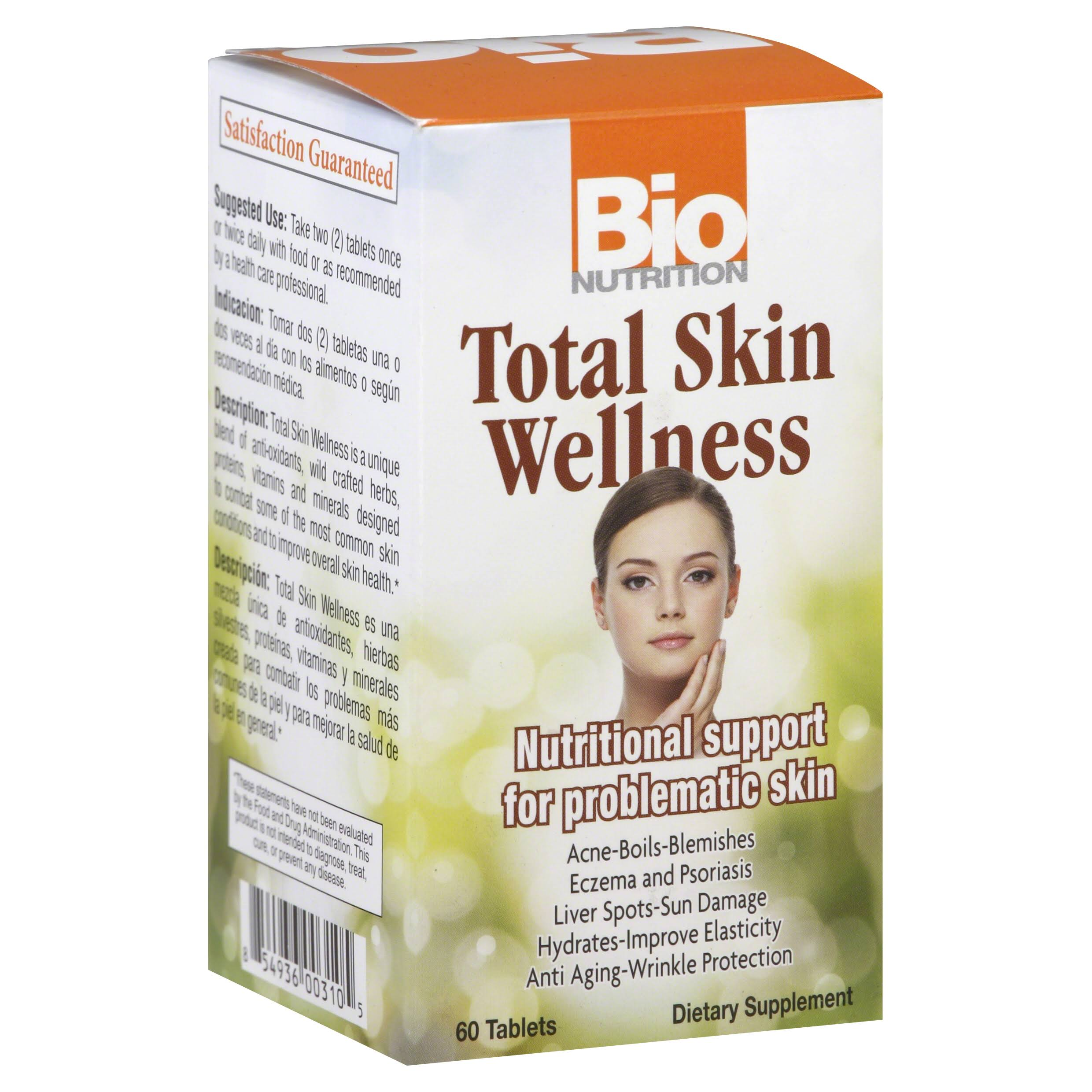 Bio Nutrition Total Skin Wellness Tablets - x60