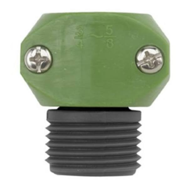 Gilmour Green Thumb Poly Male Hose Coupler - 3/4in and 5/8in