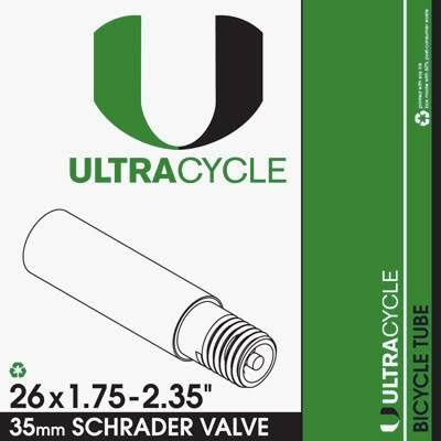 ULTRACYCLE Bicycle Tube 26 x 1.75-2.35 Schrader 35mm