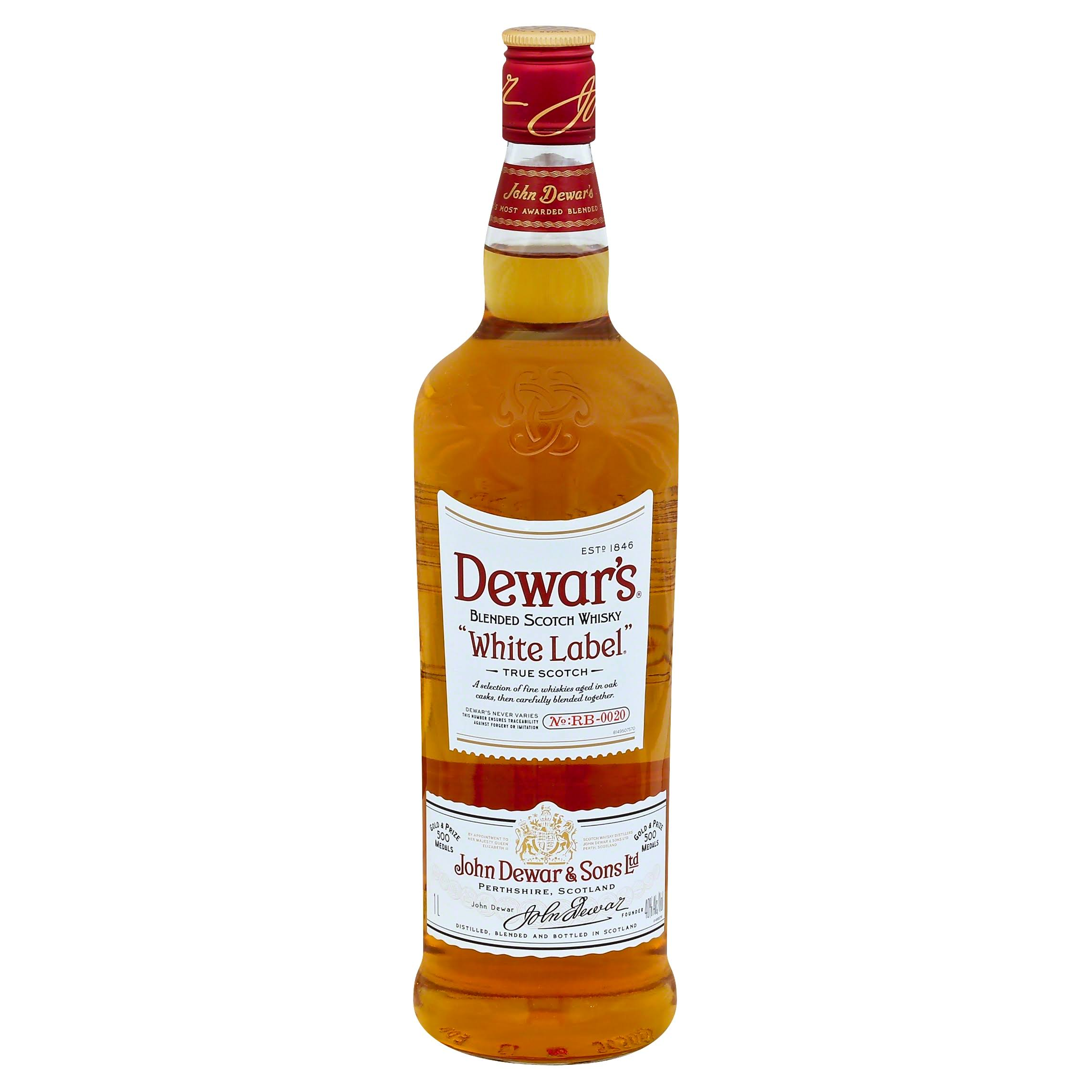 Dewar's White Label Scotch Whiskey - 1 L bottle