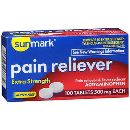 Sunmark Extra Strength Pain Reliever Tablets - 500mg, 100ct