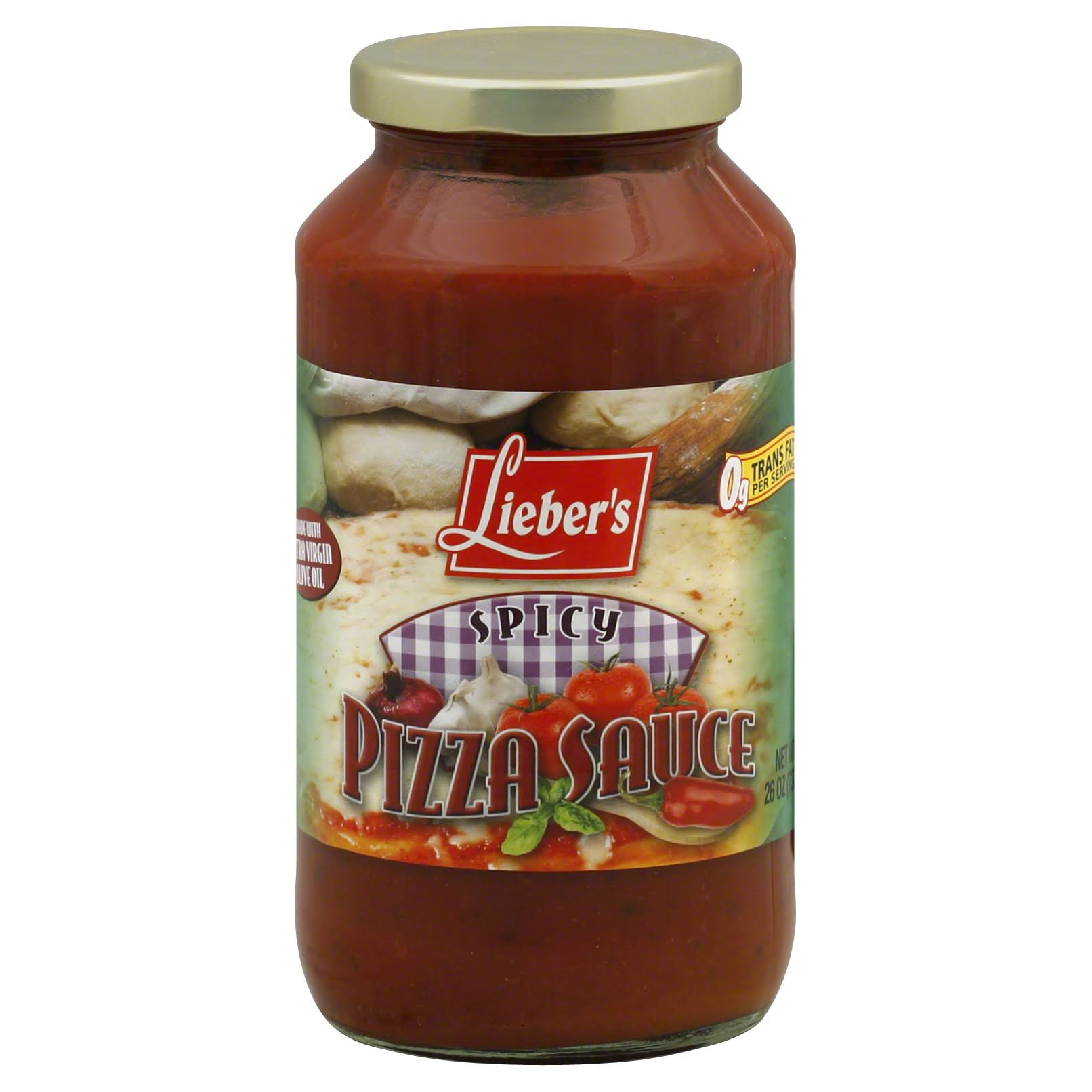 Liebers Pizza Sauce, Spicy - 26 oz