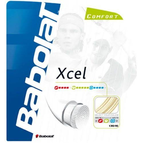 Babolat Xcel Tennis String - Natural, 12m, 1.30mm
