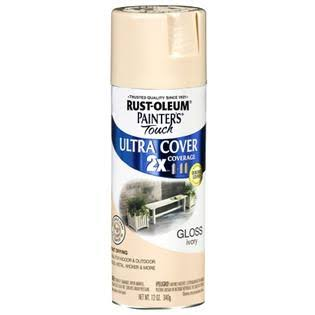 Rust-Oleum 249110 Painter's Touch Multi Purpose Spray Paint - Ivory, 12oz