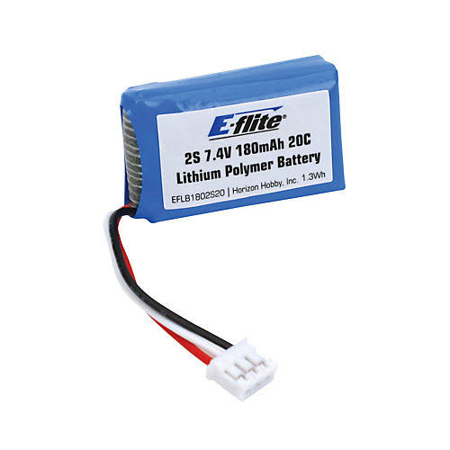 E Flite Lithium Polymer Micro Beast RC Vehicle Battery - 7.4V, 180mAh