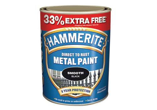 Hammerite Metal Paint - Smooth Silver