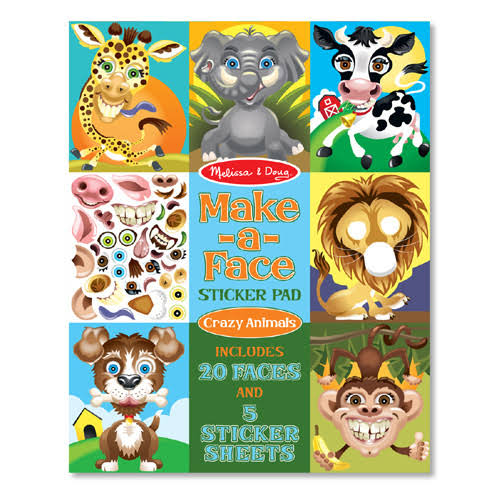 Melissa & Doug Make-a-face Sticker Pad: Crazy Animals