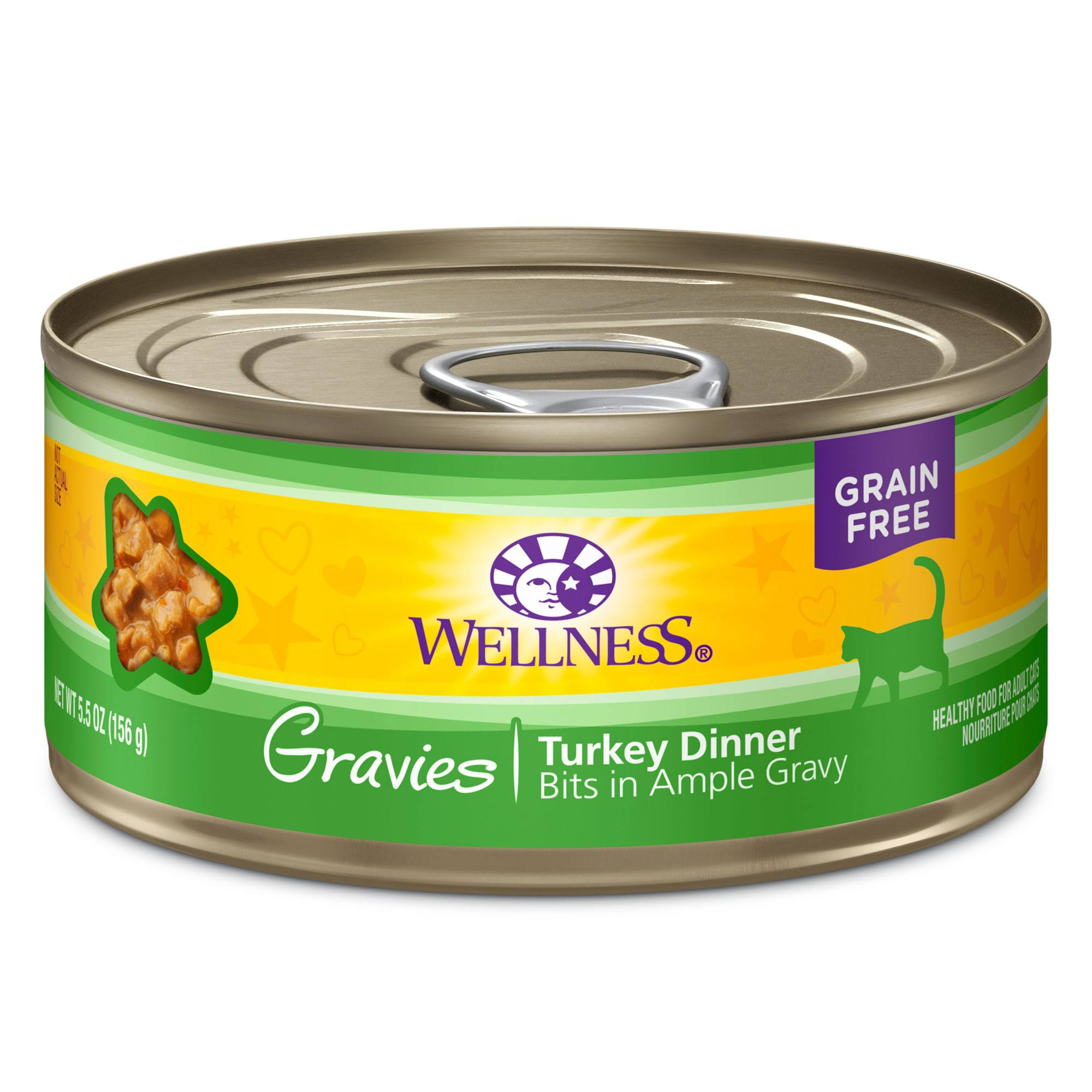 Wellness Complete Health Cat Food - Turkey Dinner Morsels In Savory Gravy, Cubed