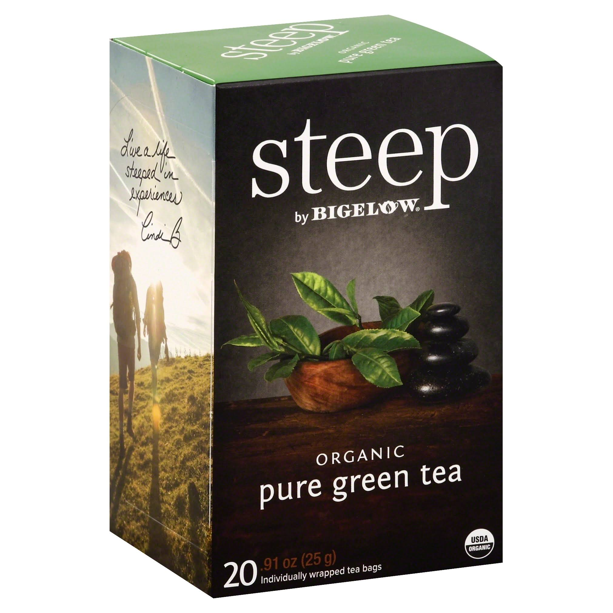 Bigelow Steep Organic Pure Green Tea - 20ct