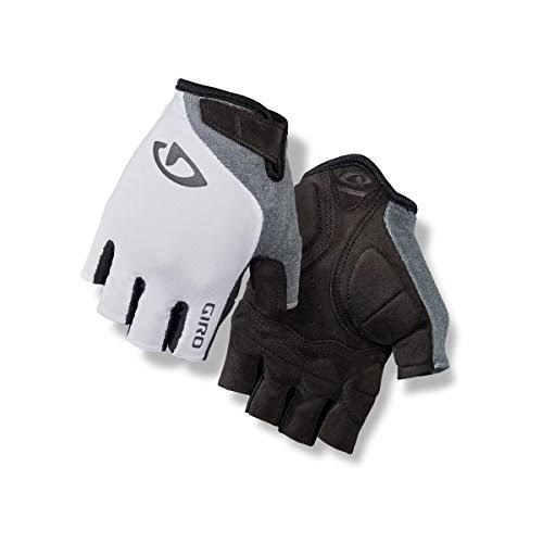 Giro Women's Jagette Fingerless Cycling Gloves - White/Ttanium, Large