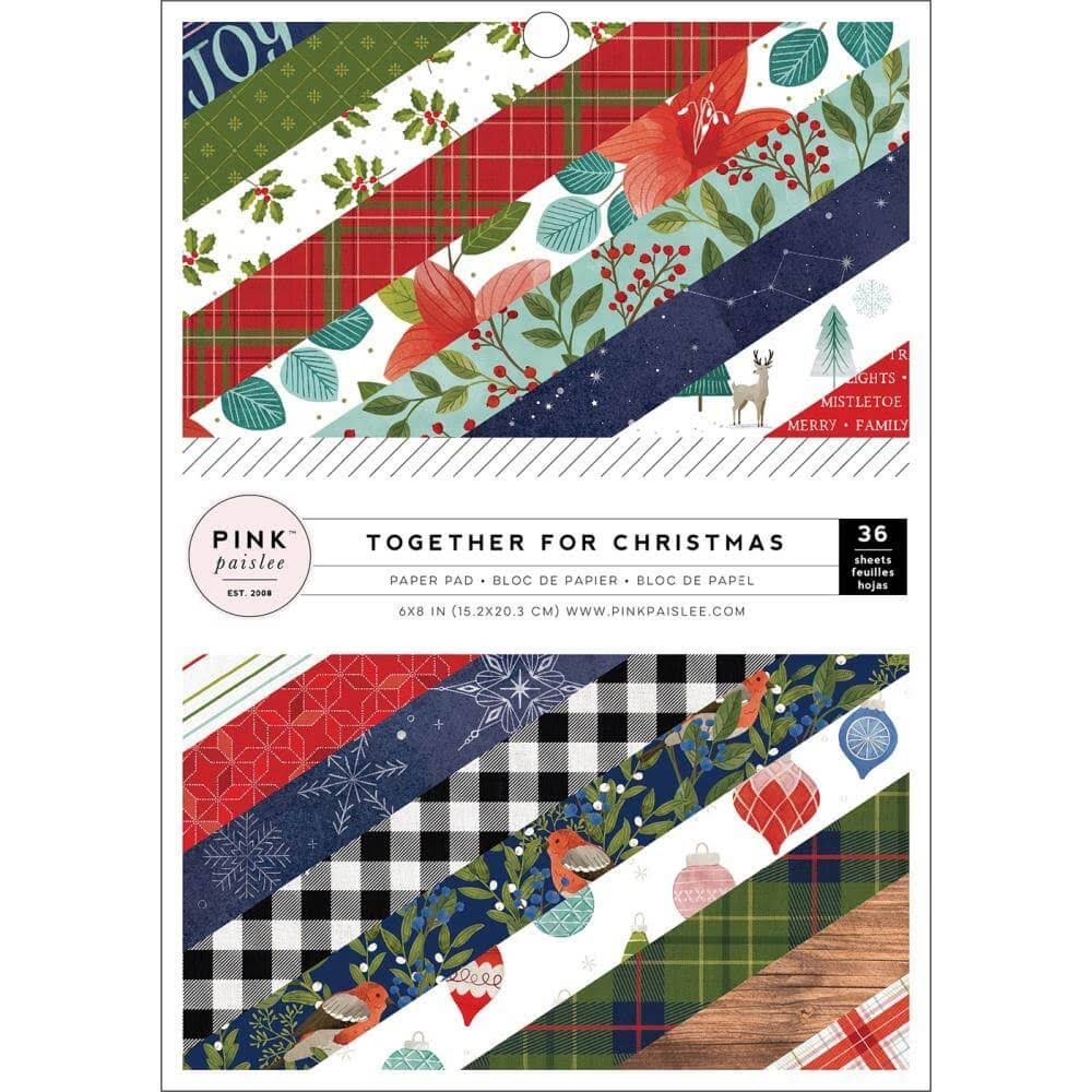 "Together for Christmas 6"" x 8"" Paper Pad - Pink Paislee"