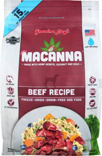 Grandma Lucy's Macanna Beef Freeze Dried Dog Food 3lbs