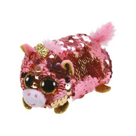 TY Teeny Flippable Sequins Sunset The Unicorn Plush Toy - 4.5""