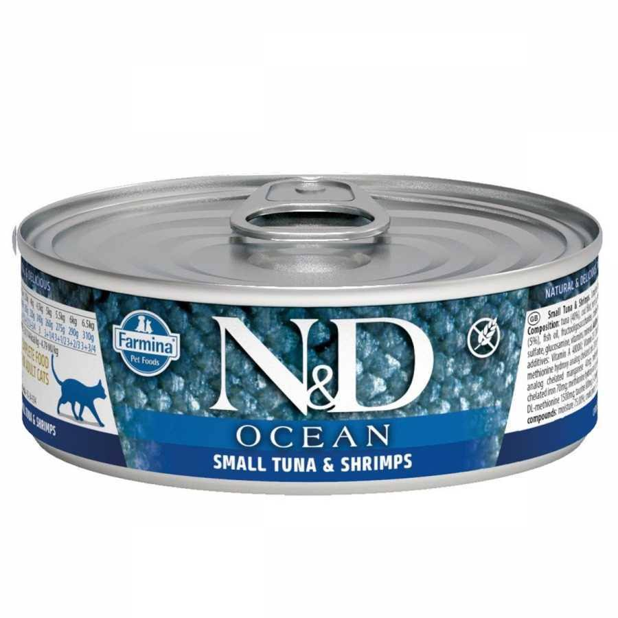 Farmina N and D Canned Cat Food - Small tuna and Shrimps