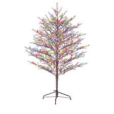 Lifelike Artificial Christmas Trees Canada by Shop Ge 5 Ft Freestanding Winterberry Tree With Constant