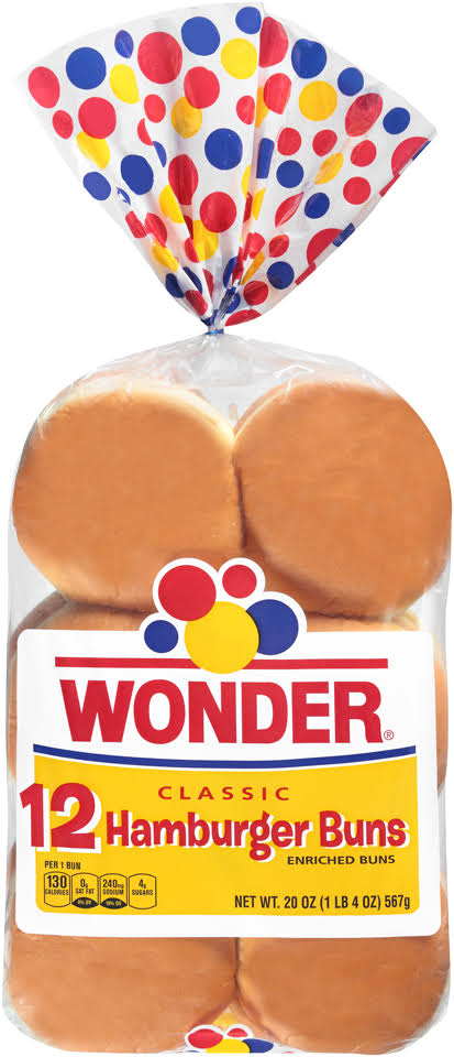 Wonder Classic Hamburger Buns - 12ct, 20oz