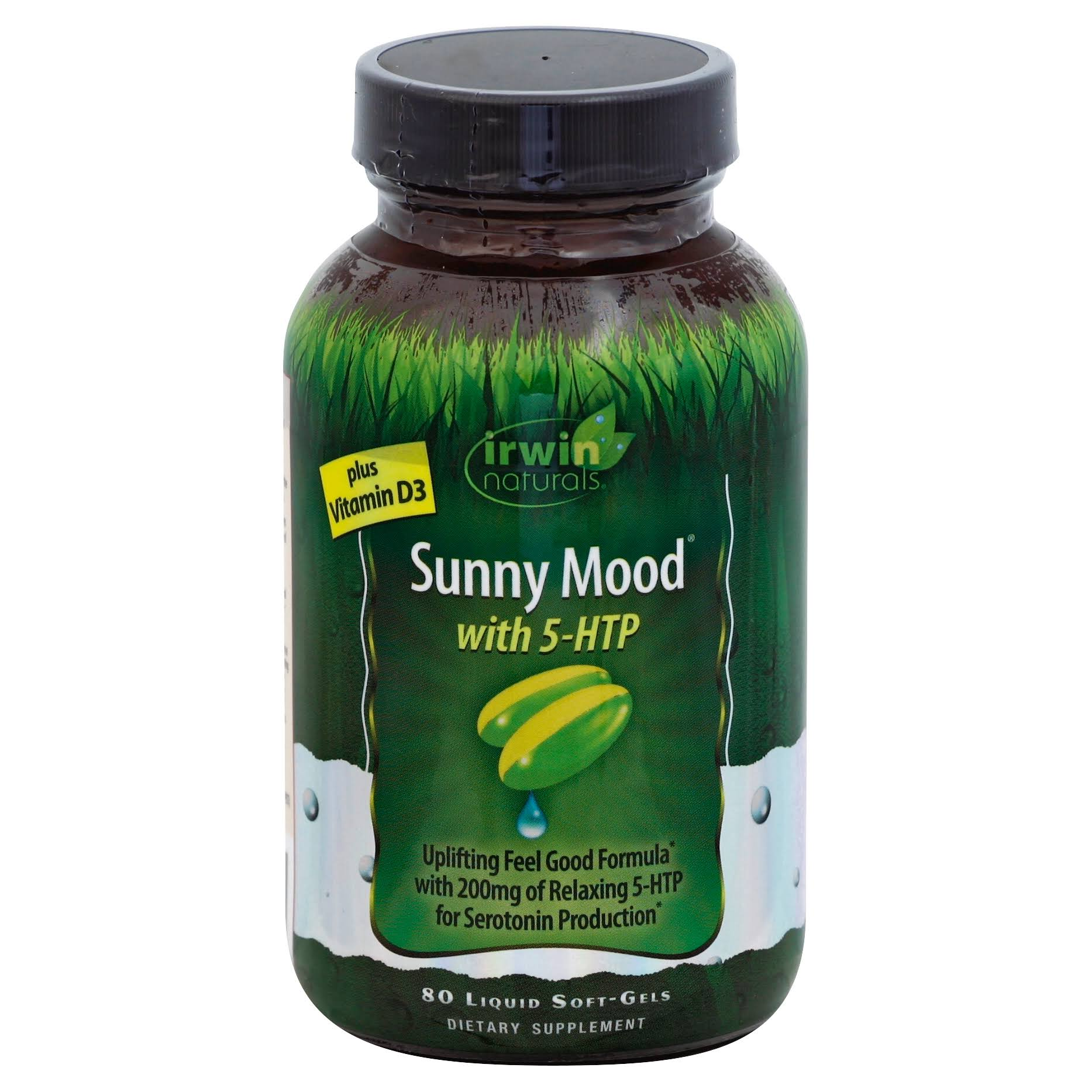 Irwin Naturals Sunny Mood with 5 HTP Supplement - 80 Softgels