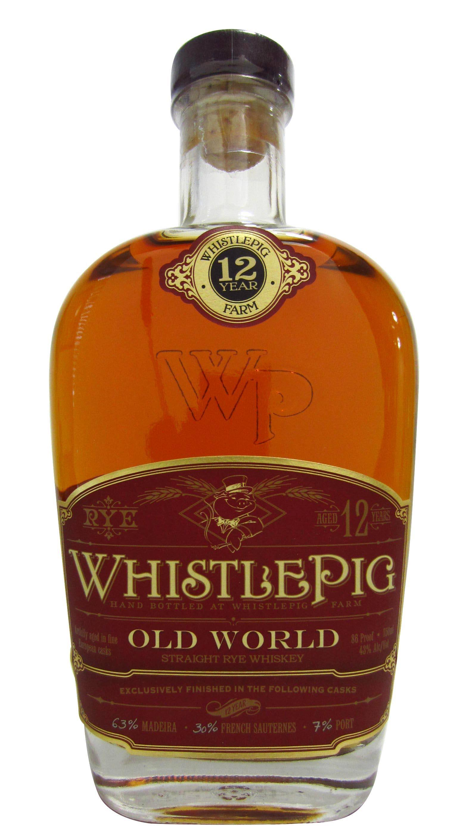 Whistlepig 12 Year Old World Rye Whiskey - 750 ml bottle
