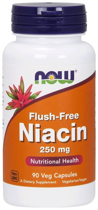 Now Foods Flush-Free Niacin - 250mg, 90 Vcaps