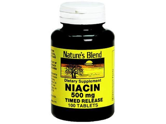 Nature's Blend Niacin 500mg Timed Release Tablets - x100