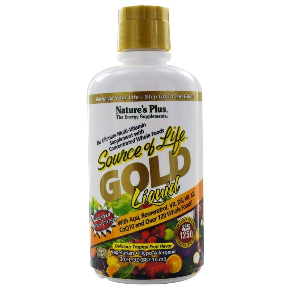 Nature's Plus Source of Life Gold Liquid Multivitamin - Tropical Fruit