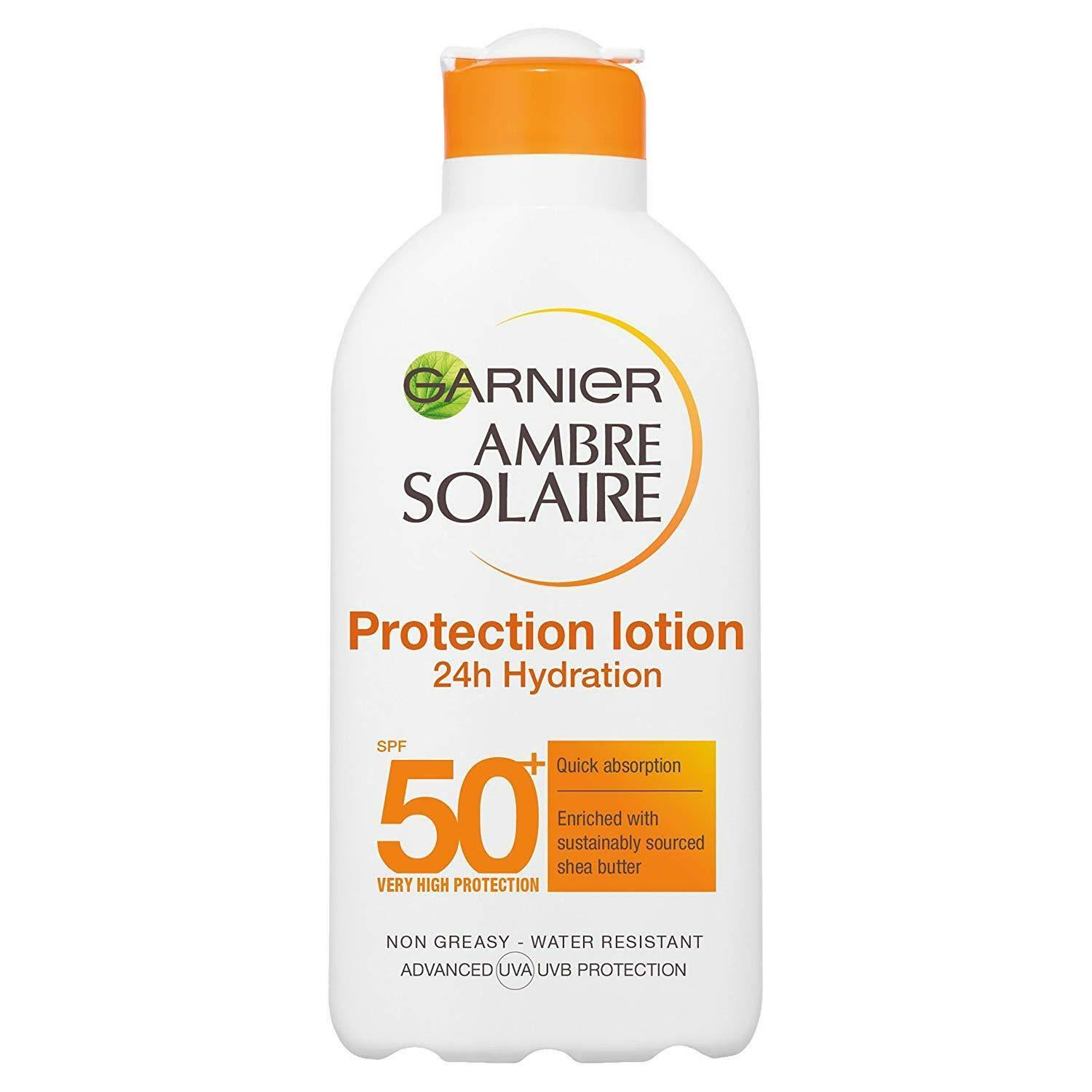 Garnier Ambre Solaire Sun Protection Cream - Shea Butter, SPF50, 200ml