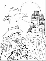 Scary Halloween Coloring Pages Online by Remarkable Witch Face Coloring Pages With Witch Coloring Pages