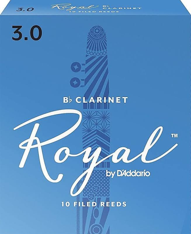 Rico Royal B Clarinet - 10 Reeds, Strength 3.0