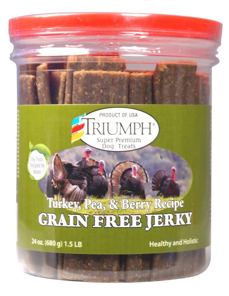 Triumph Grain Free Jerky Treats - 24 oz, Turkey, Pea & Berry