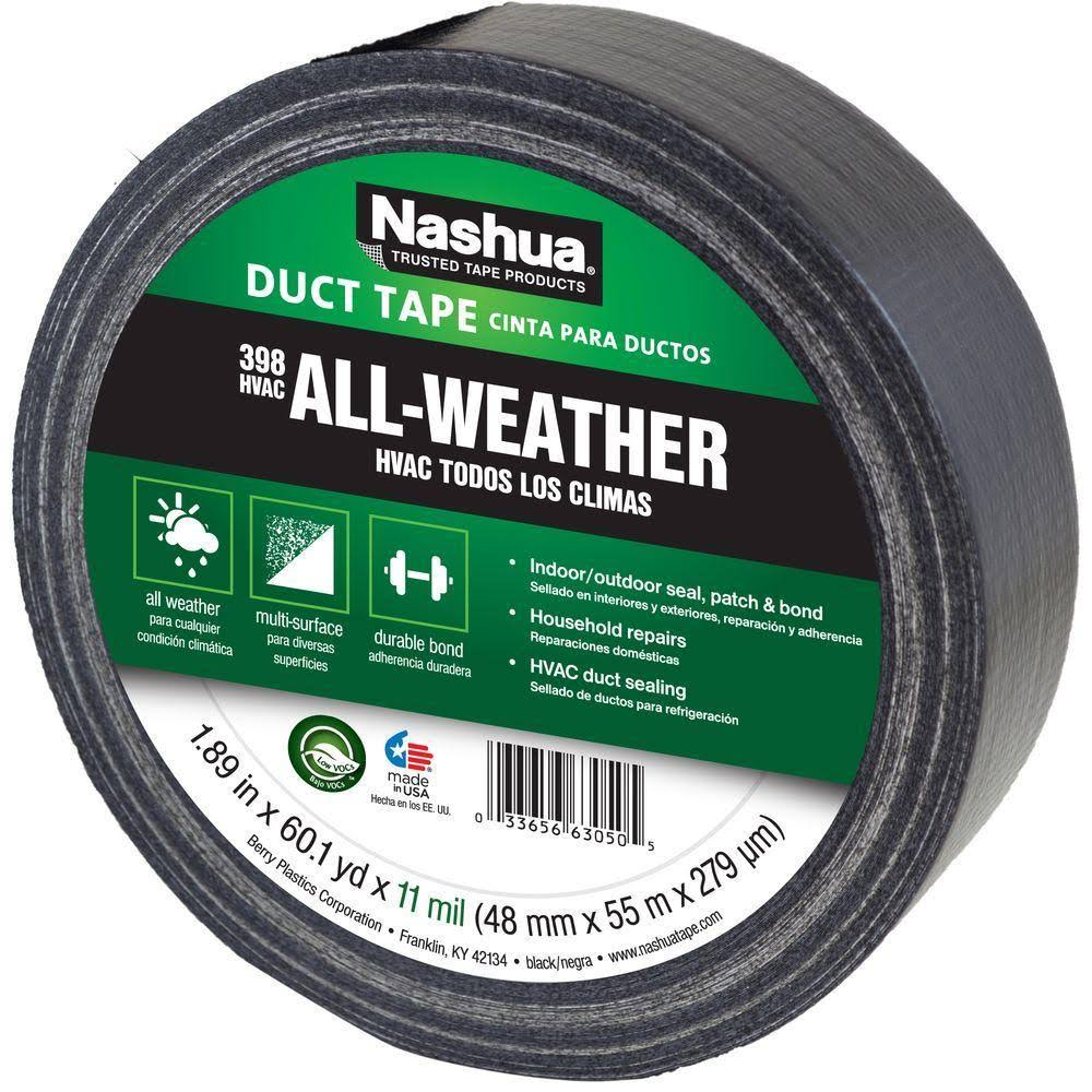 Nashua Polyethylene Coated Cloth Industrial Grade Duct Tape - Black, 55m x 48mm