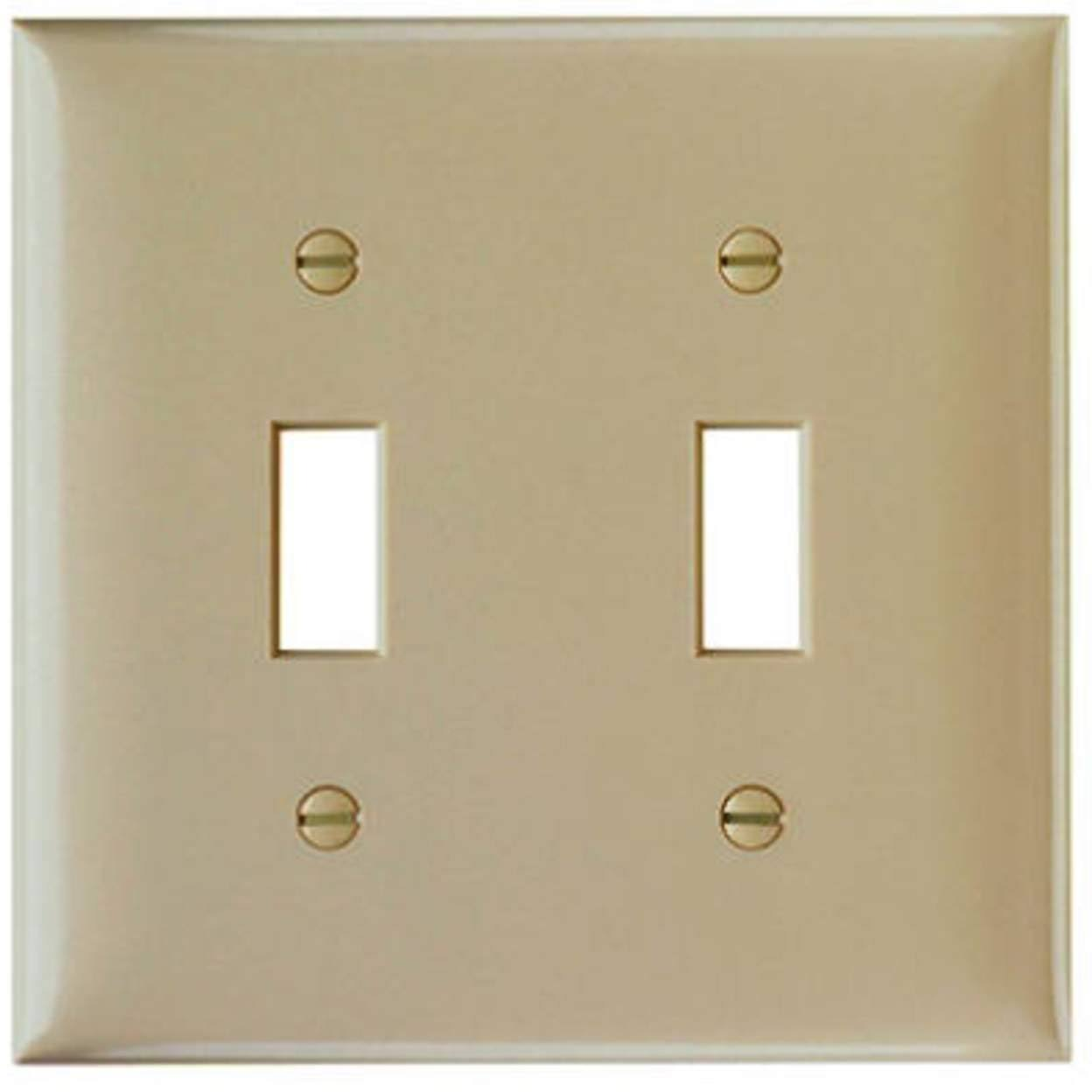 Pass & Seymour Toggle Urea Light Wall Plate - Light Almond, 2 Gang