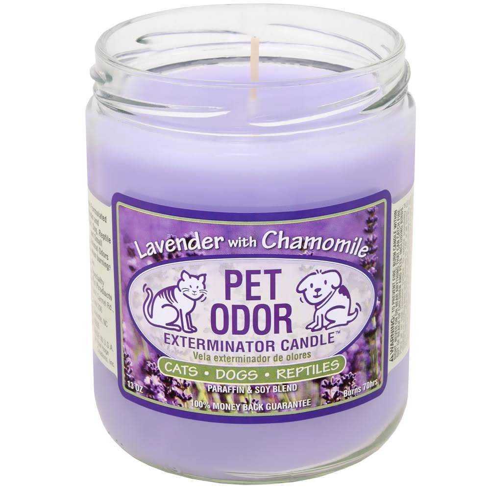 Pet Odor Exterminator Candle - Lavender with Chamomile, 13oz